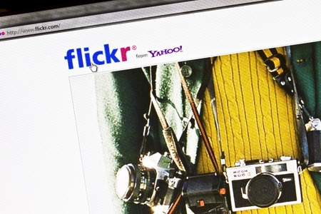 Close up of Flickr's main page Stock Photo - 10484088
