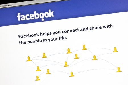 Facebooks website on a computer screen Stock Photo - 10484083