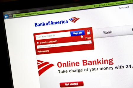Bank of America website on computer screen Stock Photo - 10466323