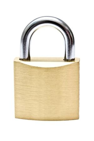 to lock: Lucchetto isolato su sfondo bianco