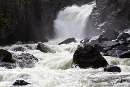 cataract falls: Nature landscape of mountain waterfall