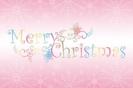Merry Christmas background of snowflakes and floral Vector