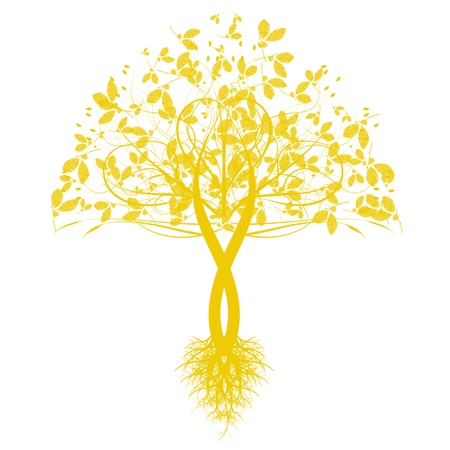 Beautiful art tree isolated on white background Stock Vector - 10464882