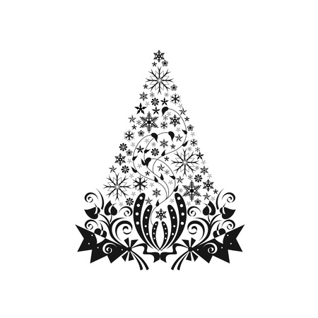 Beautiful christmas decoration isolated on white background   Vector