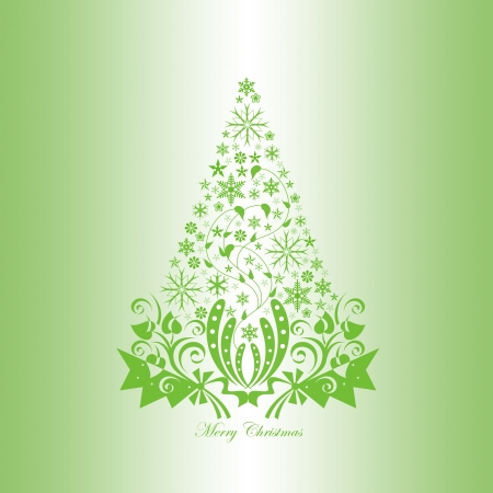 holiday music: Beautiful christmas decoration with floral and snowflakes  Illustration