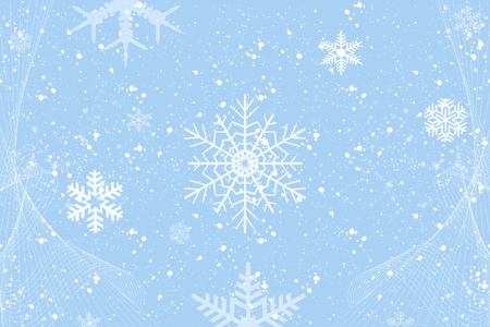 Abstract background of winter decoration whith beautiful snowflakes  Stock Vector - 10554623