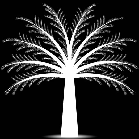 pine tree isolated: Abstract pine tree isolated on white background Illustration