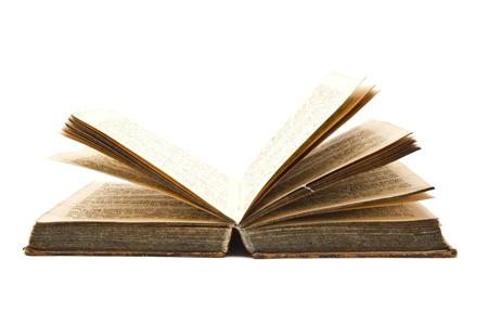 Old book isolated on white background Stock Photo - 10598603