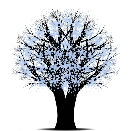 Beautiful art tree isolated on white background Stock Vector - 10627174