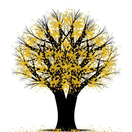 bark of palm tree: Beautiful art tree isolated on white background Illustration