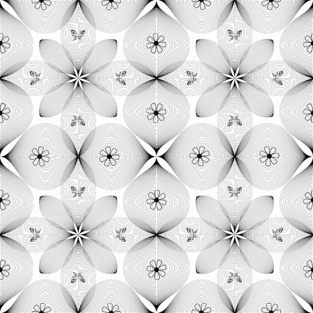 Abstract background of seamless floral and butterfly pattern Vector