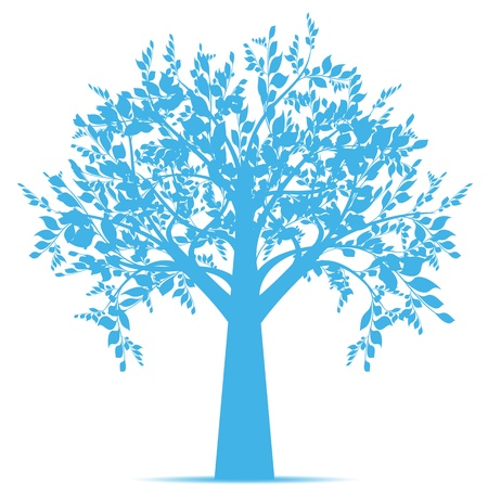 Beautiful art tree isolated on white background Stock Vector - 10667804