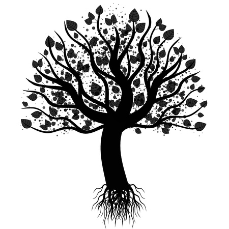 Abstract art tree isolated on white background Stock Vector - 10667832