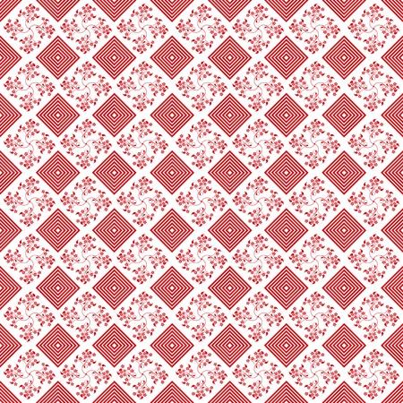 red polka dots: Fondo abstracto de hermoso patr�n floral transparente