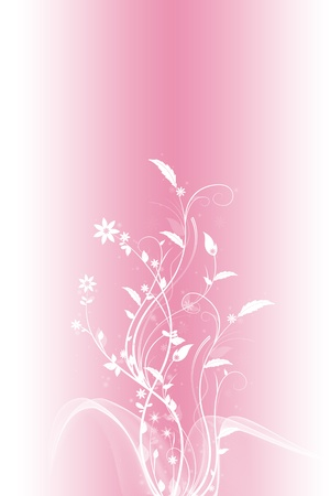 Beautiful and fashion floral background. Illustration