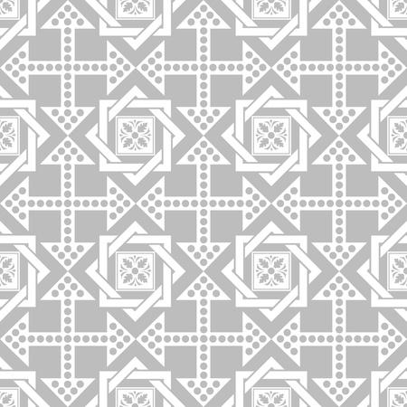 Seamless motif floral et de points beau