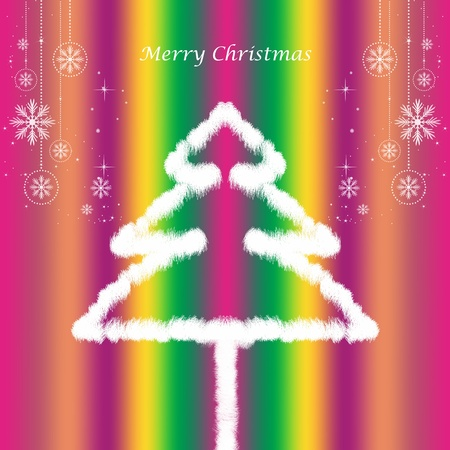Abstract background of beautiful and colorful christmas decoration   Vector