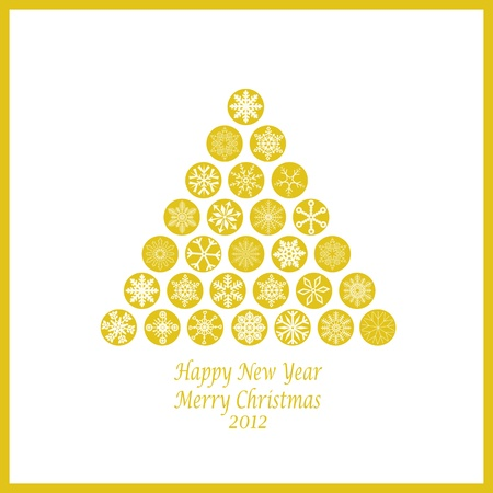 Beautiful decoration of Happy New Year & Merry Christmas Vector