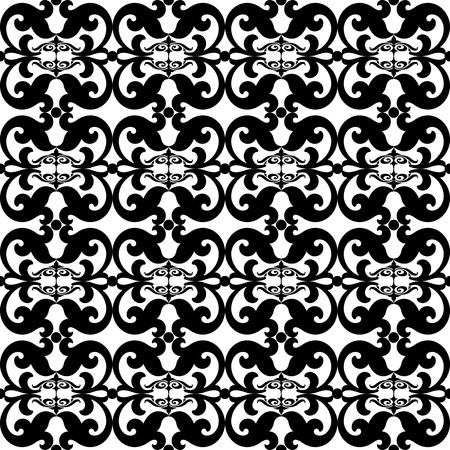 classic contrast: Beautiful and fashion seamless floral pattern background Illustration