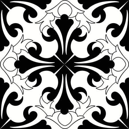 black and white image: Background of beautiful and fashion seamless floral pattern