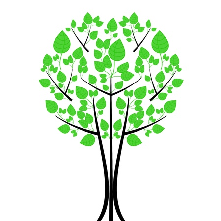 Beautiful art tree isolated on white background Stock Vector - 11167809