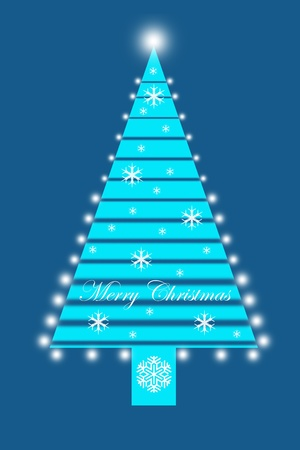 Beautiful decoration of Merry Christmas Tree Vector