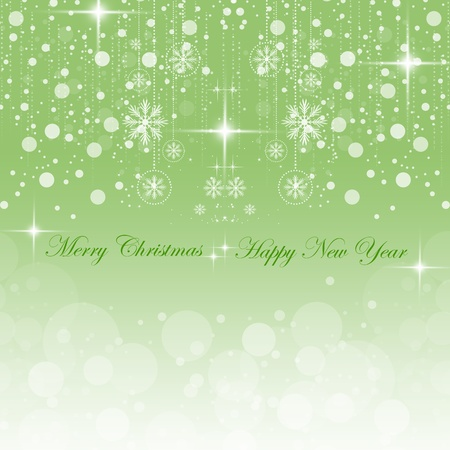 Beautiful background of Happy New Year & Merry Christmas