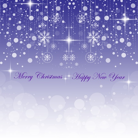 Beautiful background of Happy New Year & Merry Christmas Vector