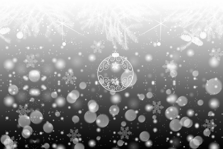 Beautiful winter background with snowflakes and lights