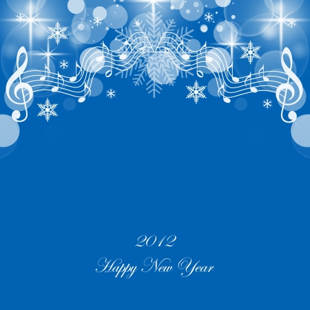 Beautiful greeting card of happy new year 2012 Vector
