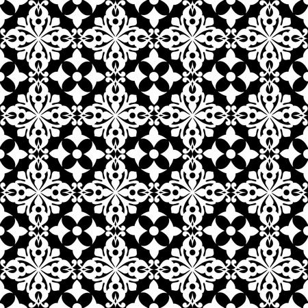classic contrast: Beautiful background of seamless classic floral pattern