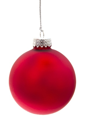 Beautiful christmas decoration isolated on white background   photo