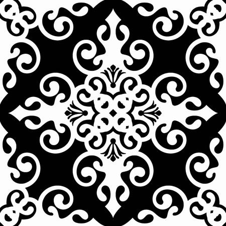 polka dot pattern: Beautiful background of seamless classic floral pattern