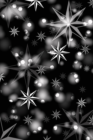 Abstrack background of beautiful lights and stars on black Illustration