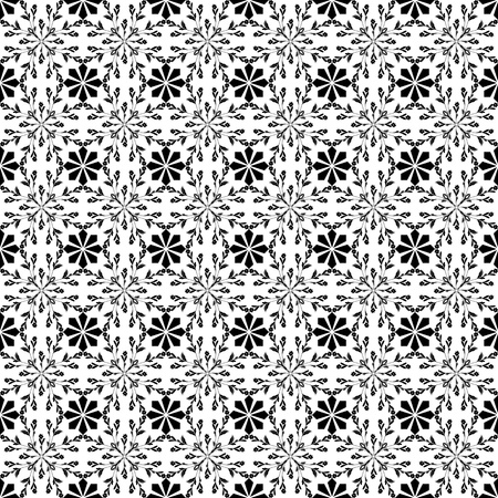 Beautiful background of seamless classic floral pattern Vector