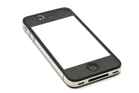 Apple iPhone 4s on white background Stock Photo - 11366641
