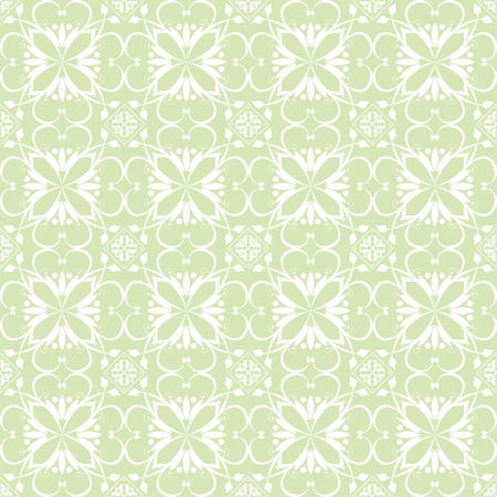 Beautiful background of seamless claasic floral pattern Vector