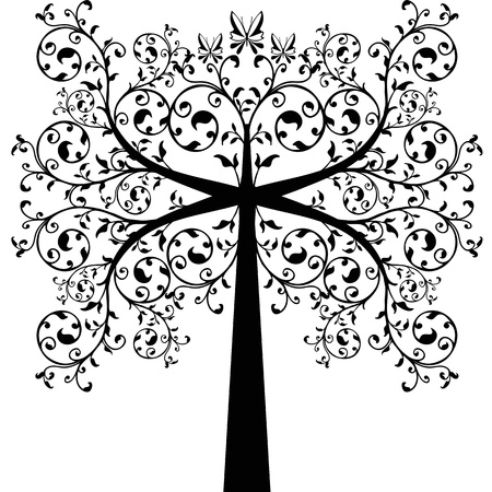 Beautiful art tree isolated on white background Stock Vector - 11586232