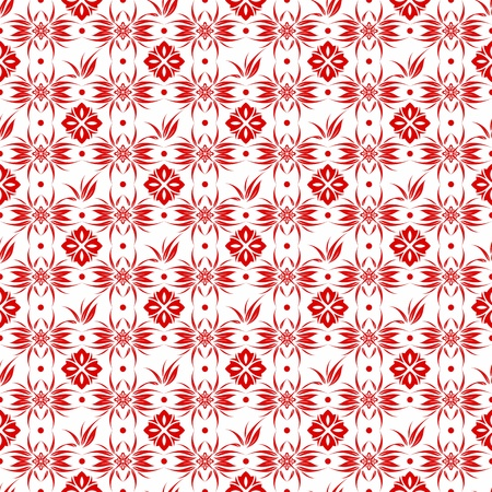 Beautiful background of seamless flroal pattern Vector