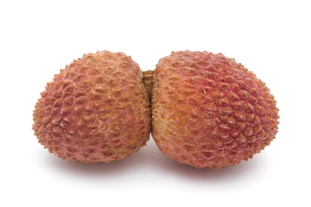 Fresh Litchi Closeup On white Background photo