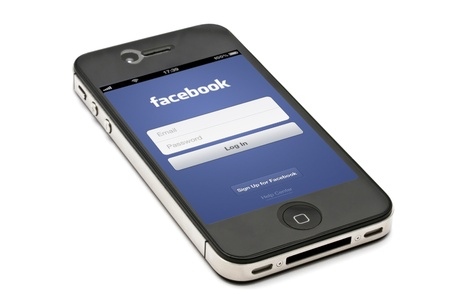 Facebook on iPhone screen