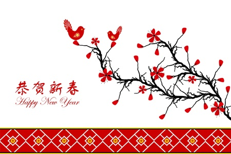 Beautiful background of Chinese New Year greeting card Stock Vector - 11785761