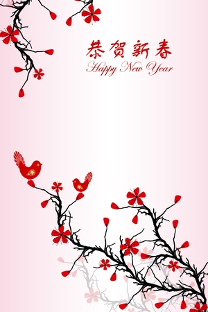 Beautiful background of Chinese New Year greeting card Stock Vector - 11863188