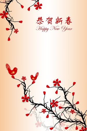 Beautiful background of Chinese New Year greeting card Stock Vector - 11863190