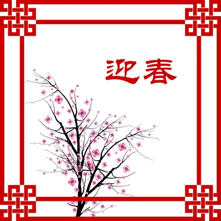 Chinese New Year greeting card background Stock Vector - 11960855