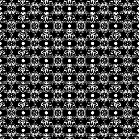 Seamless pattern of hearts and floral Vector