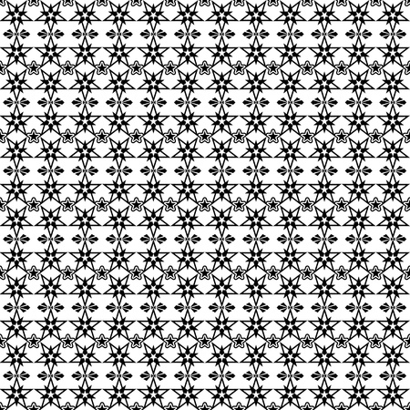 Beautiful background of seamless stars pattern Vector