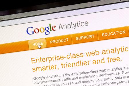 google: Google Analytics sitio web en una pantalla de ordenador