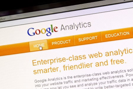displayed: Google Analytics website displayed on a computer screen