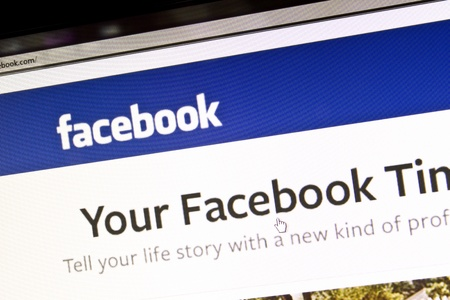 Facebook website displayed on a computer screen Stock Photo - 12147534